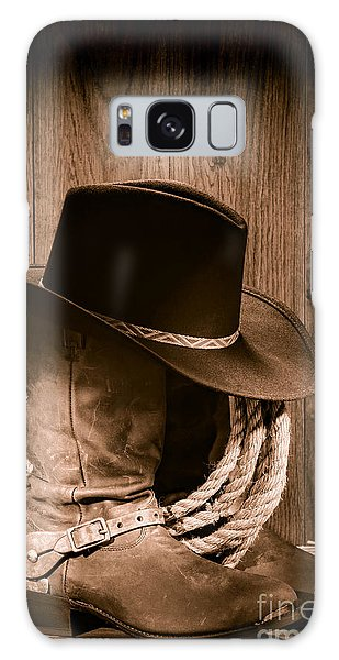 Cowboy Hat And Boots Galaxy Case