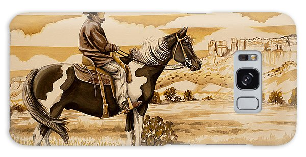 Cowboy On The Range Galaxy Case