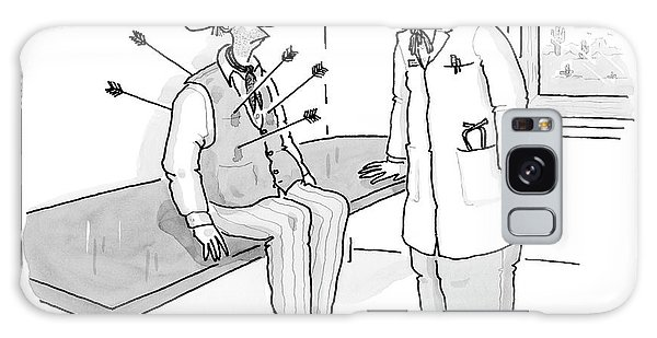 Cowboy Shot With Arrows In Doctors Office Galaxy Case