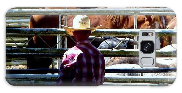 Cowboys Corral Galaxy Case by Susan Garren