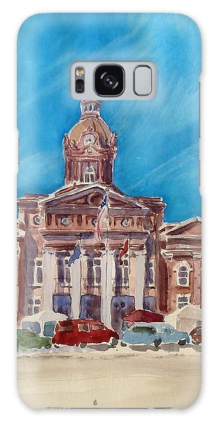 Coweta County Courthouse Painting Galaxy Case by Sally Simon