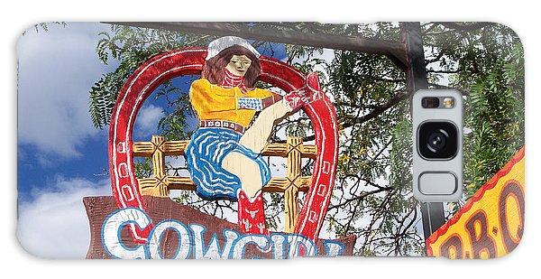 Cowgirl Cafe Galaxy Case by Sylvia Thornton