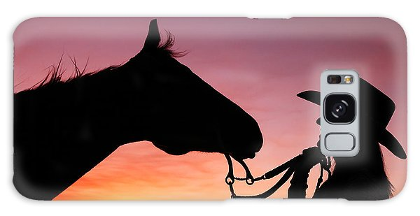 Horse Galaxy Case - Cowgirl Sunset by Todd Klassy
