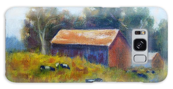 Cows By The Barn Galaxy Case