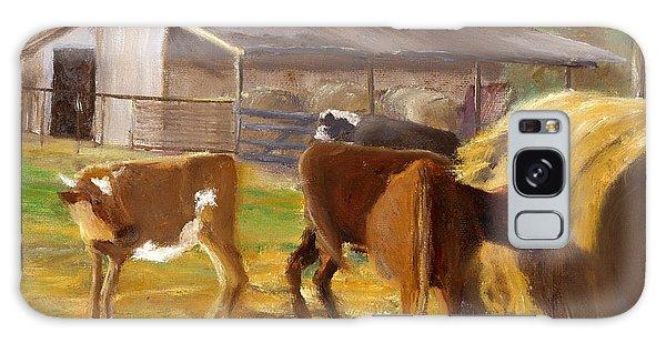 Cows Hay And Barn In Louisiana Galaxy Case