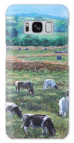 Cows In A Field In The Devon Countryside Galaxy Case