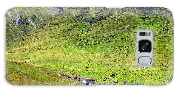 Buy Art Online Galaxy Case - Cows In A Valley by Alexandros Daskalakis