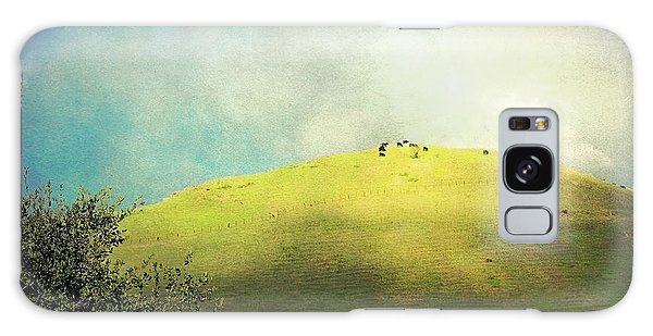 Cows On A Hill Galaxy Case by Ellen Cotton
