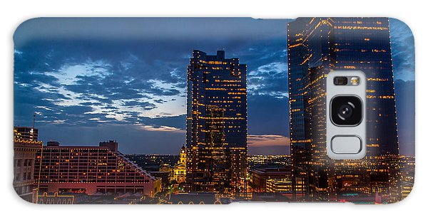 Cowtown At Night Galaxy Case