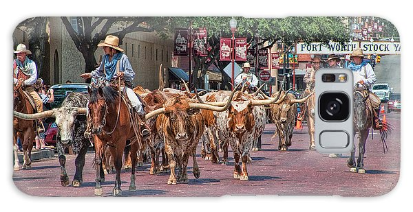 Cowtown Cattle Drive Galaxy Case by David and Carol Kelly