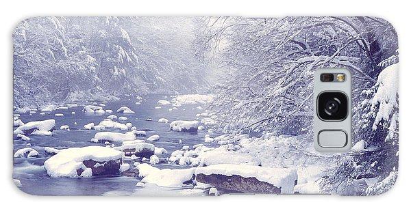 Cranberry River Heavy Snow Galaxy Case