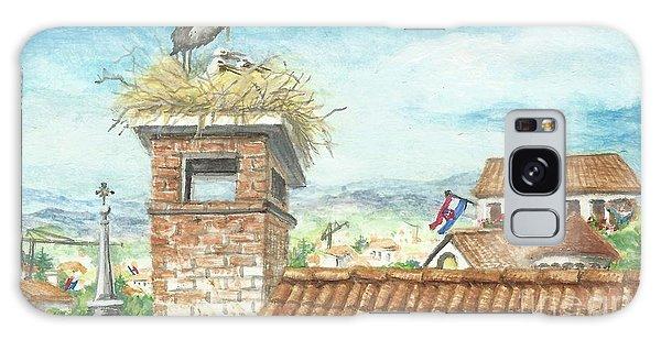 Cranes In Croatia Galaxy Case by Christina Verdgeline