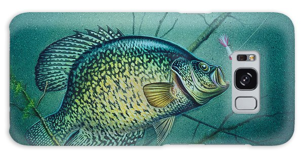 Crappie And Pink Jig Galaxy Case