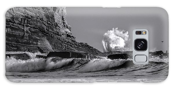 Crashing Waves At Cabrillo By Denise Dube Galaxy Case