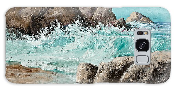 Crashing Waves Galaxy Case by Darice Machel McGuire