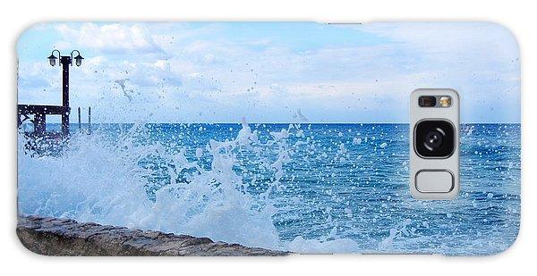 Crashing Waves In Cozumel Galaxy Case by Debra Martz