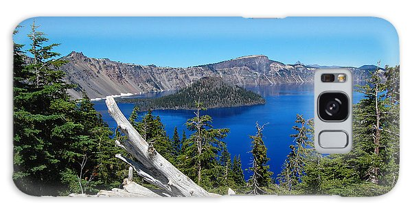 Crater Lake And Fallen Tree Galaxy Case by Debra Thompson