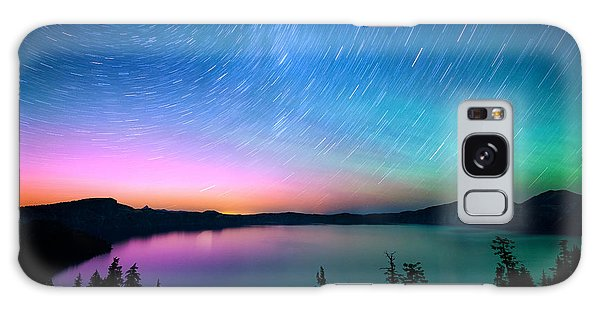 Crater Lake Aurora  Galaxy Case