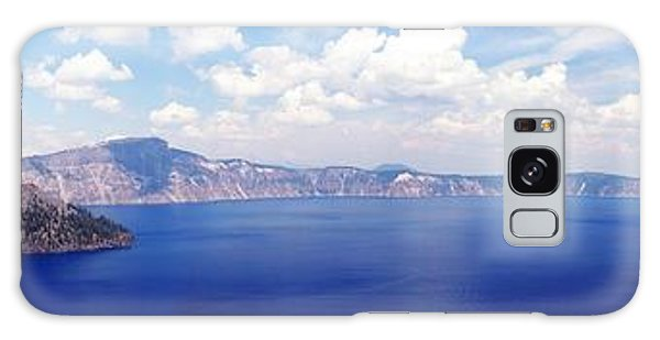 Crater Lake Panorama Galaxy Case by Michael Courtney