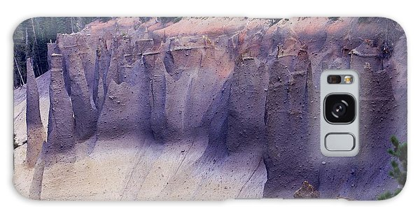 Crater Lake Pinnacles Galaxy Case by Michael Courtney