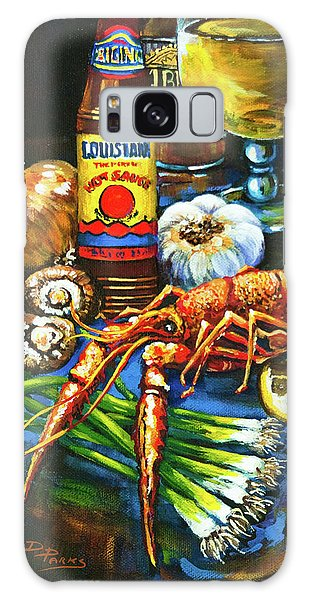 Crawfish Fixin's Galaxy Case by Dianne Parks