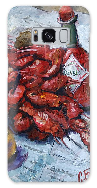 Crawfish Tabasco Galaxy Case by Carole Foret