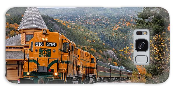 Crawford Notch Train Depot Galaxy Case by Adam Jewell
