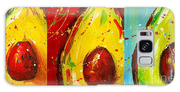 Crazy Avocados Triptych  Galaxy Case