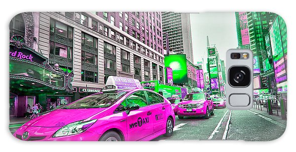 New York City Taxi Galaxy Case - Crazy Cabs In Manhattan by Delphimages Photo Creations