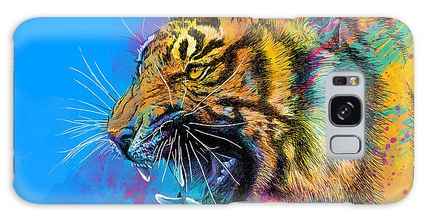 Animal Galaxy S8 Case - Crazy Tiger by Olga Shvartsur