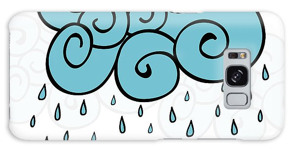 Drop Galaxy Case - Creative Blue Cloud And Raindrops by Allies Interactive