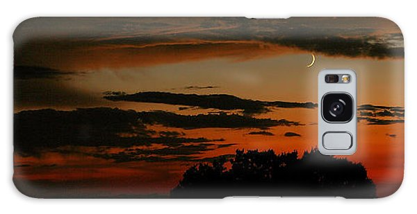 Crescent At Sunset Galaxy Case
