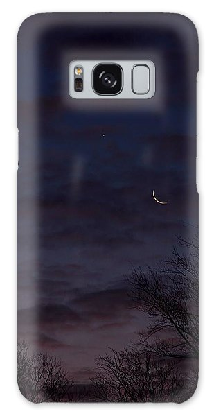 Crescent Moon And Venus Rising Galaxy Case