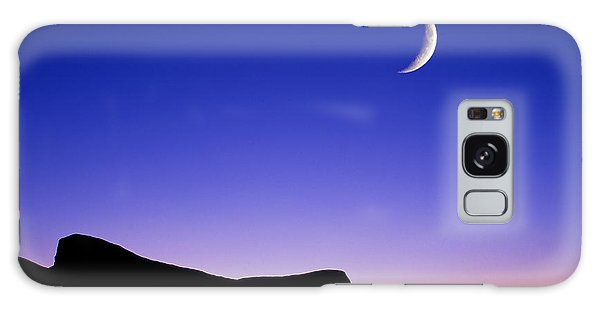 Galaxy Case featuring the photograph Crescent Moon Halibut Pt. by Michael Hubley