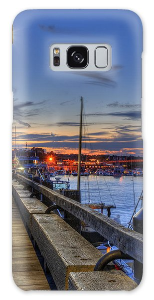 Crescent Moon Over Newburyport Harbor Galaxy Case