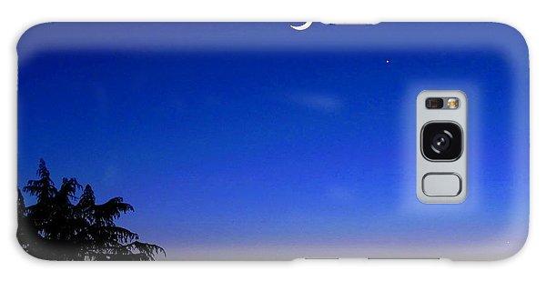 Crescent Moon San Francisco Bay Galaxy Case