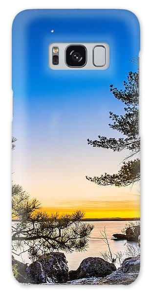 Crescent Moon Sunset Galaxy Case