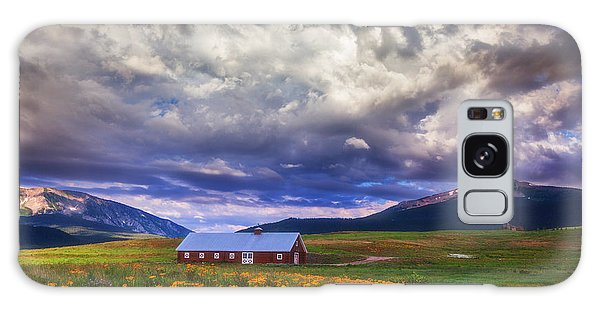 Crested Butte Morning Storm Galaxy Case