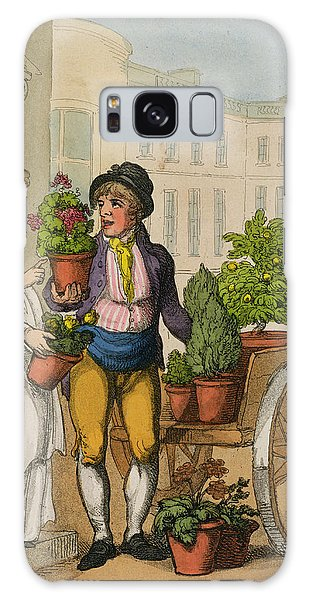 Cart Galaxy Case - Cries Of London The Garden Pot Seller by Thomas Rowlandson