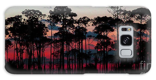 Crimson In The Pines Galaxy Case