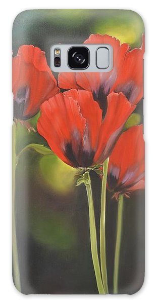 Crimson Petals Galaxy Case