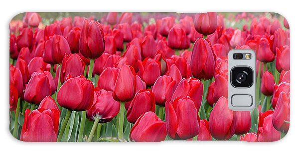 Crimson Tulips  Galaxy Case by Richard Reeve