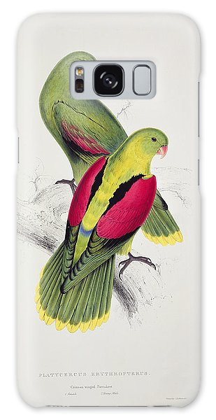 Parakeet Galaxy Case - Crimson Winged Parakeet by Edward Lear