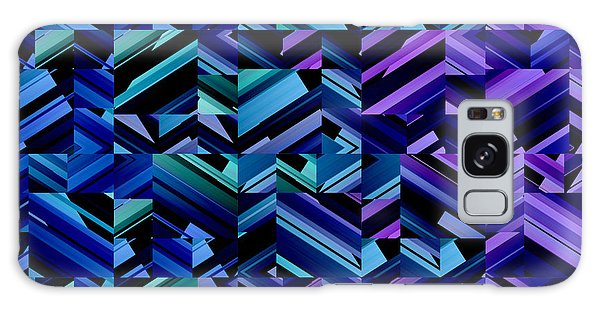 Criss Cross Blues Galaxy Case