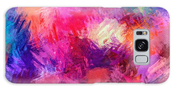 Crisscross Brushwork Galaxy Case