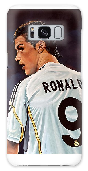 Soccer Galaxy S8 Case - Cristiano Ronaldo by Paul Meijering