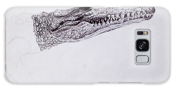 Croc Sketch Galaxy Case