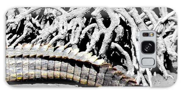 Galaxy Case featuring the photograph Crocodile Tail by Debbie Cundy