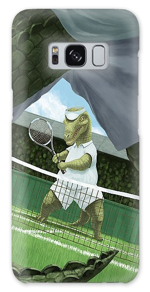 Crocodiles Playing Tennis At Wimbledon  Galaxy Case