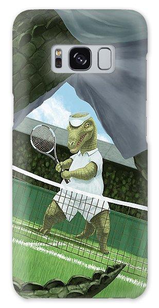 Crocodiles Playing Tennis At Wimbledon  Galaxy Case by Martin Davey